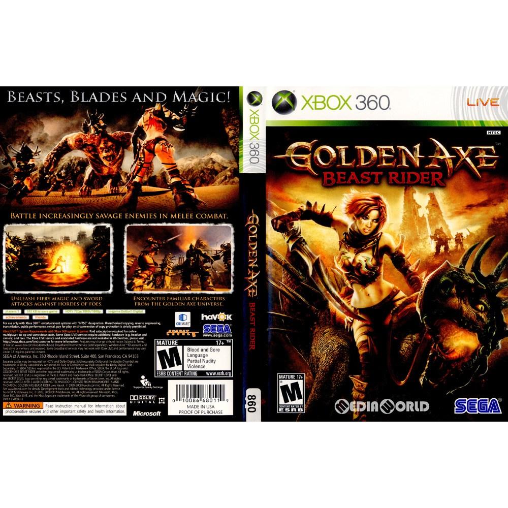 【中古即納】[Xbox360]Golden Axe: Beast Rider(ゴールデンアックス ビーストライダー)(北米版)(68011)(20081014)