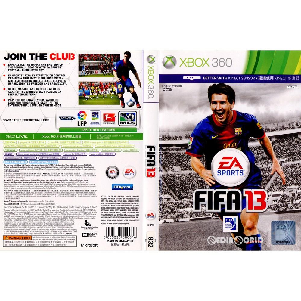 【中古即納】[表紙説明書なし][Xbox360]FIFA Soccer 13(FIFA13 ワールドクラスサッカー)(アジア版)(20120925)