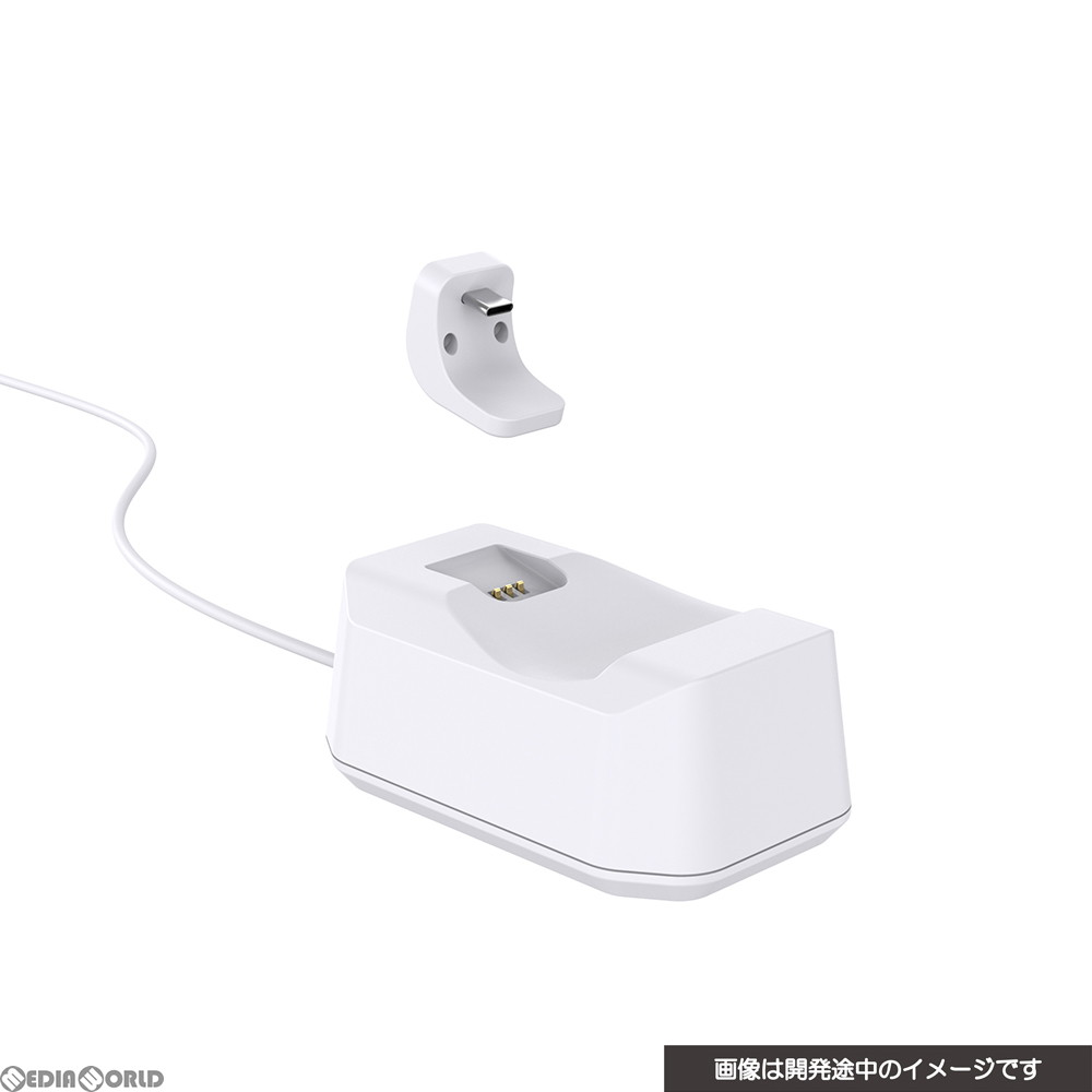 【新品】【お取り寄せ】[ACC][PS5]CYBER・置くだけで充電できるコントローラースタンド(PS5用) ホワイト サイバーガジェット(CY-P5OCCS-WH)(20201112)