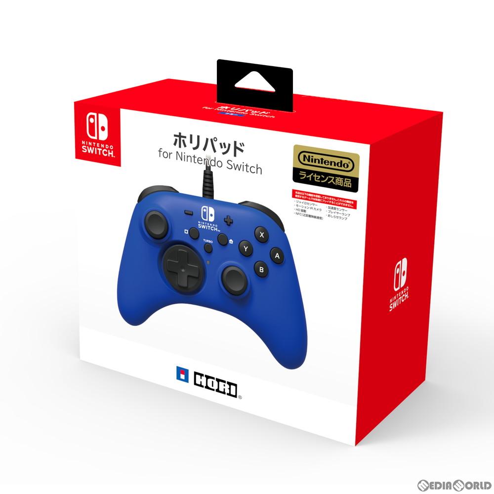 【新品】【お取り寄せ】[ACC][Switch]ホリパッド for Nintendo Switch(ニンテンドースイッチ) ブルー 任天堂ライセンス商品 HORI(NSW-155)(20201008)