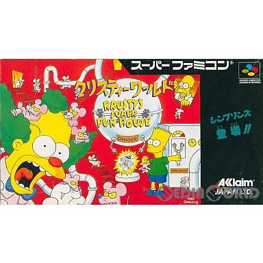 【中古即納】[箱説明書なし][SFC]クリスティーワールド(Krusty's Super Funhouse)(19930129)
