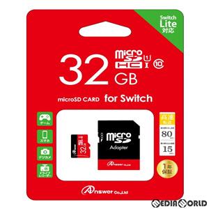【新品即納】[ACC][Switch](再販)Switch/Switch Lite用(スイッチ/スイッチライト用)  MicroSDHC32GB(SDカードアダプター付き) アンサー(ANS-MSDHC32G)(20200612)