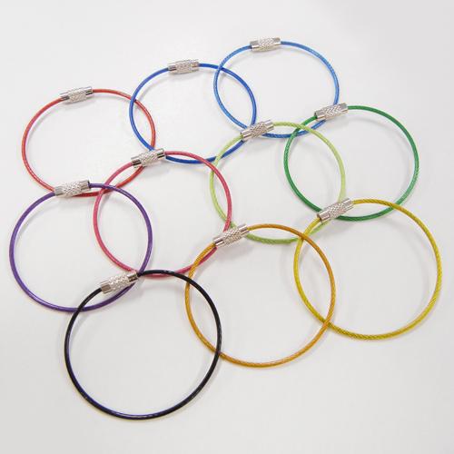 カラーワイヤーキーリング/WI-15cm 2個