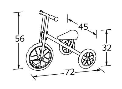 【お取り寄せ/返品不可】キンダービークル「3輪車」★グッドデザイン賞認定商品<br>安全性、耐久性、デザイン性を評価されました!