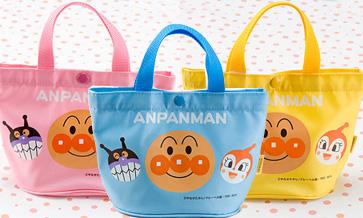【完売】アンパンマンミニてさげ(ピンク/ブルー/イエロー)★パステルカラーがかわいい♪