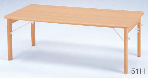 (21年2月中旬以降入荷予定)【お取り寄せ/返品不可】キンダーファニチャーシリーズ★木製折りたたみテーブル/120cm幅(※高さ2種類)