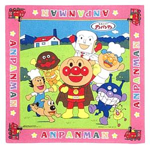 【完売しました】 それいけ!アンパンマンナフキン(ピンク/ブルー)★お弁当箱を包もう!
