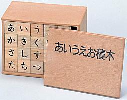 【お取り寄せ】文字に興味を持ちはじめたお子さまに★あいうえお積み木