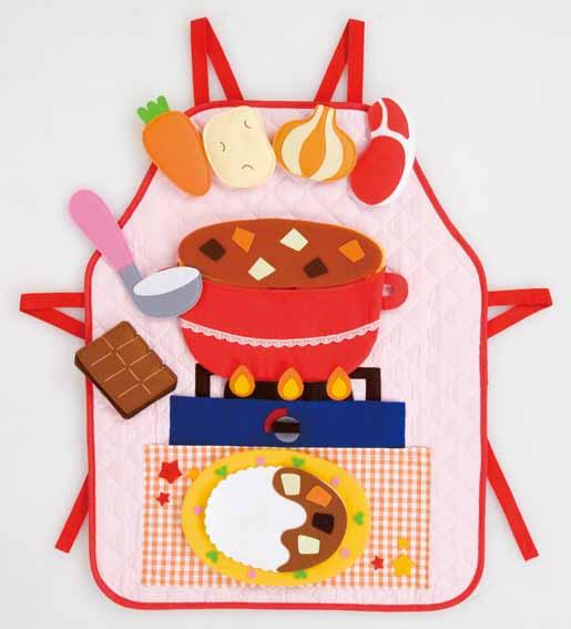 【完売】エプロンシアター「おりょうりだいすき!」【食育指導】カレーライスとハンバーグを作ろう!