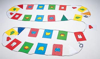 どうぶつ万国旗★かわいい動物の旗(連結タイプ)