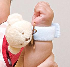【完売】動物のリストバンド★赤ちゃんにくっつけてリンリン♪