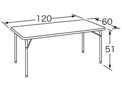 【お取り寄せ/返品不可】キンダーライティーテーブル24JM(H51)/120cm幅