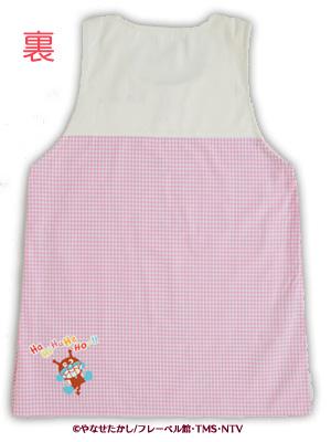 【完売】アンパンマンかぶりエプロン(生成×ピンク)★お料理・お掃除・お子さまと遊ぶとき♪