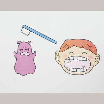 カラーパネルシアター虫歯予防(ムッシバンをやっつけろ)★歯みがき指導に【保健活動/栄養指導】