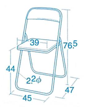 【お取り寄せ】折りたたみいす・SC(大人用パイプ椅子※2種類からお選びください)