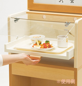 (再入荷待ち)【お取り寄せ/返品不可】木製給食展示ケースセット★フレーベル館オリジナル
