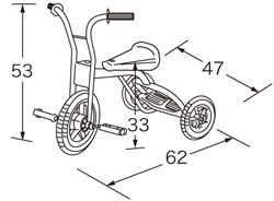 ≪お届けは、4月上旬以降の見込みです≫  【お取り寄せ】ターボ三輪車SG(赤)★シンプルで頑丈な三輪車の基本形