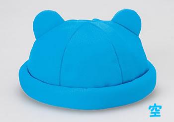 【返品不可】乳幼児用帽子★ニット耳付ロール【4色からお選びください】