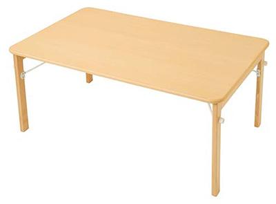【お取り寄せ/返品不可】キンダーファニチャーシリーズ★木製折りたたみテーブル ワイド/120cm幅(高さ51H)