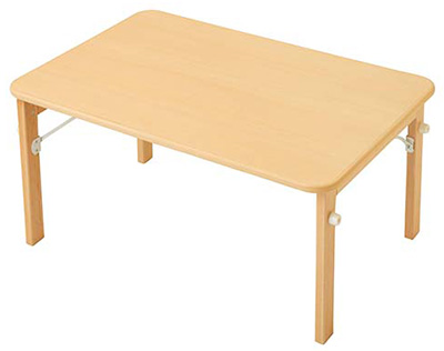 【お取り寄せ/返品不可】キンダーファニチャーシリーズ★木製折りたたみテーブル ミニ/90cm幅(高さ43H)