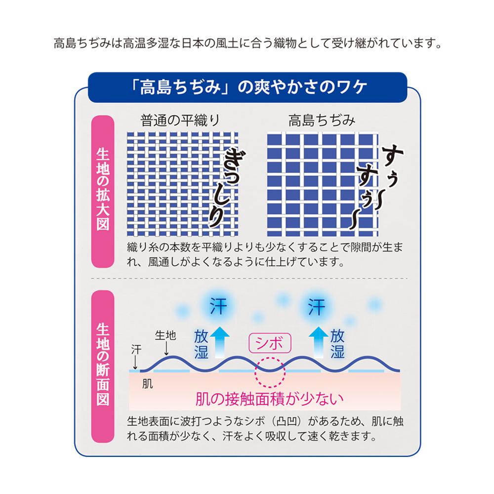 [癒しの工房] 【約74%OFF】高島ちぢみラウンドギャザーチュニック(単色)