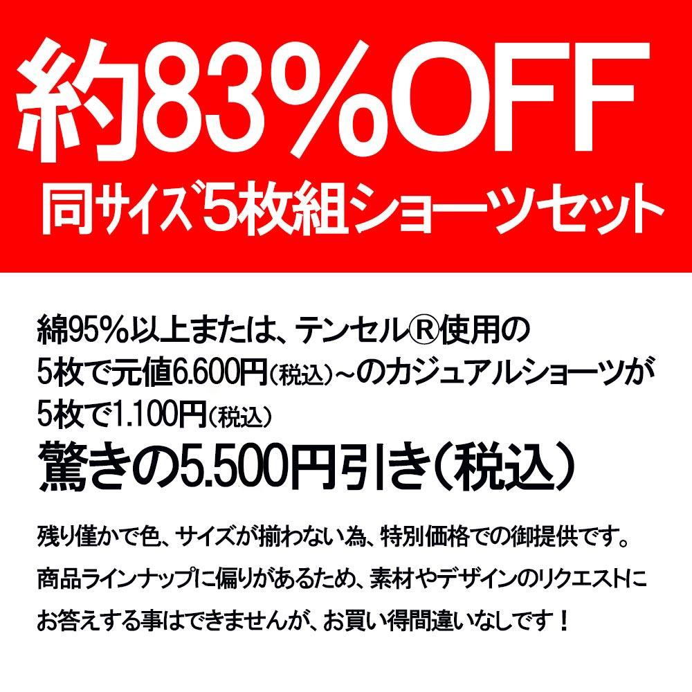 超特価【約85%OFF】日本製ショーツ5枚組アソート【数量限定】