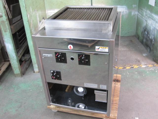 【オザキ】【業務用】【中古】 ガスチャーブロイラー 鉄板焼器 OZガスステイカー600* 都市ガス