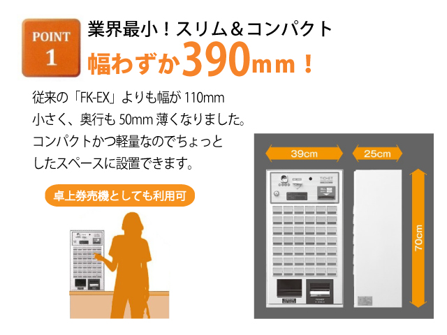 全国搬入設置・取扱説明込!【Fujitaka(フジタカ)】【業務用】【新品】 卓上券売機 FK-CX 単相100V