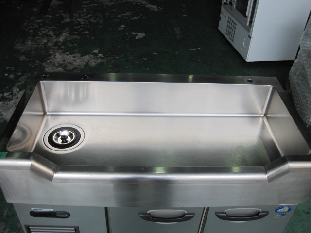 【パナソニック】【業務用】【中古】 舟形シンク付冷蔵コールドテーブル SUR-GL1261SA-S◎ 単相100V