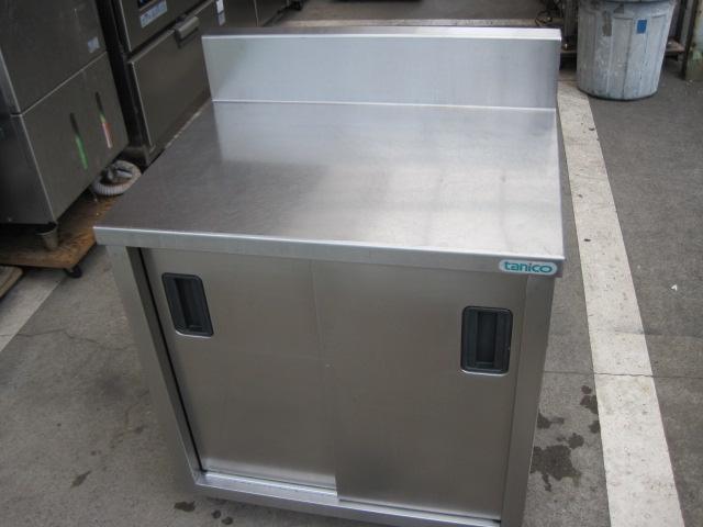 【W750xD600xH800mm】【業務用】【中古】 調理台 C4287 バックガード H150xD60mm
