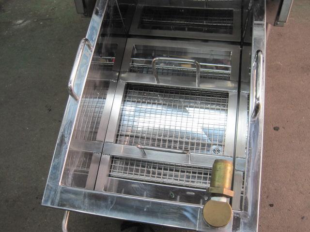 【コメットカトウ】【業務用】【中古】 ろ過機能付ガスフライヤー CF2-GD18R 都市ガス/単相100V