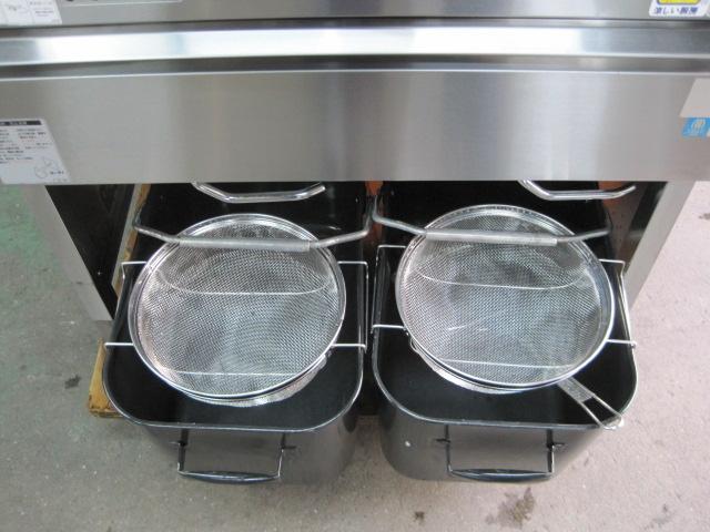 【マルゼン】【業務用】【中古】 ガスフライヤー MGF-C13WK* 都市ガス バック+排気筒H250mm