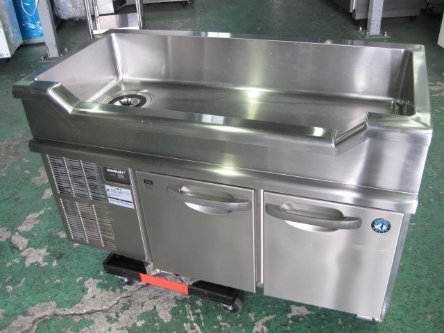 【ホシザキ】【業務用】【中古】 舟型シンク付冷蔵コールドテーブル RW-120SNC◎ 単相100V