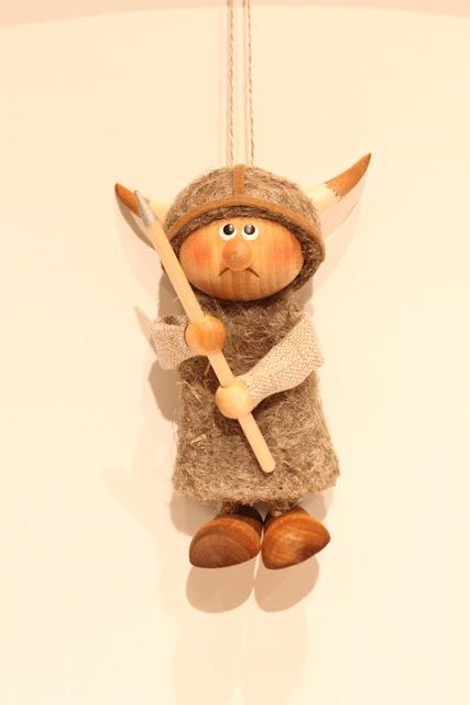 Nordic 木製人形 バイキング 吊り-A
