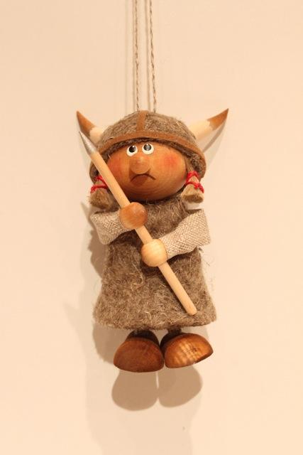 Nordic 木製人形 バイキング 吊り-B