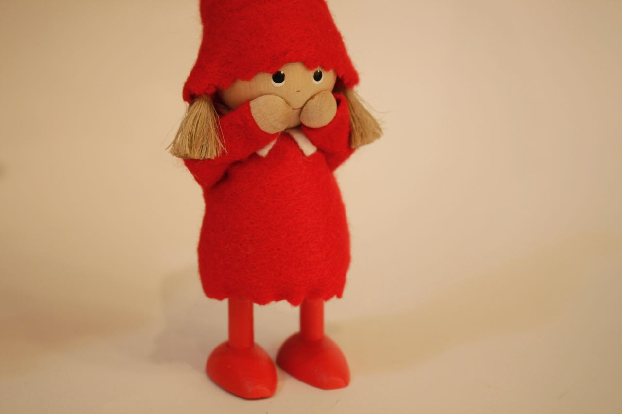 �-3【限定2】Nordic 木製人形 Girl(smily)&ピエロ 吊り 2点セット