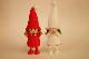 �【限定5】Nordic 木製人形 女の子(smily)-red&女の子 (smily)-white 2点セット