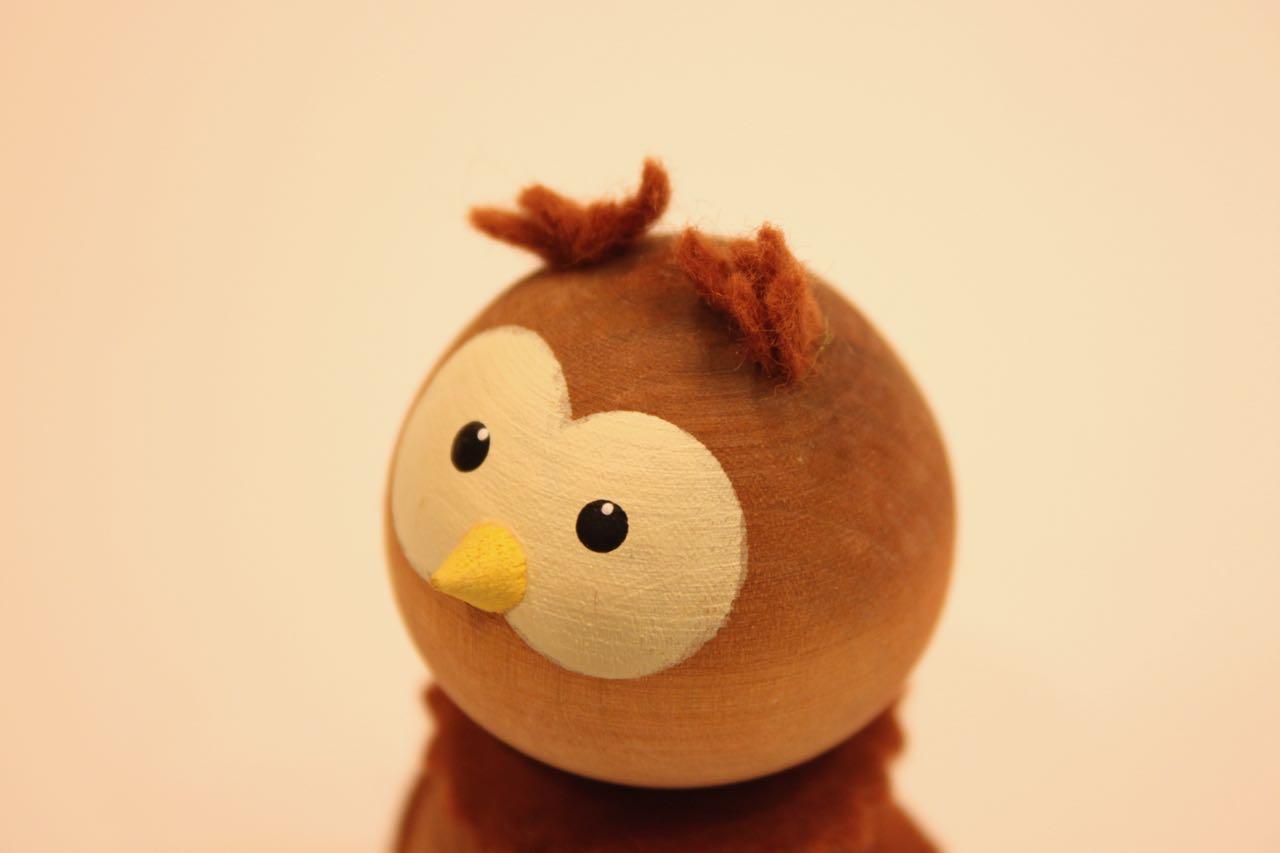 Nordic 木製人形 フクロウ