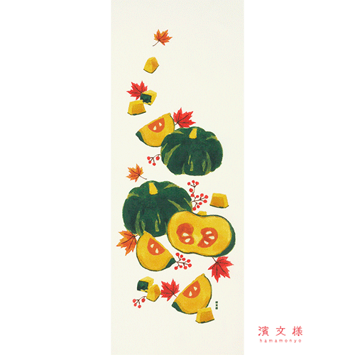 絵てぬぐい 秋の収穫
