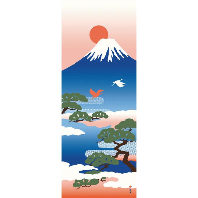 絵てぬぐい 富士山と松