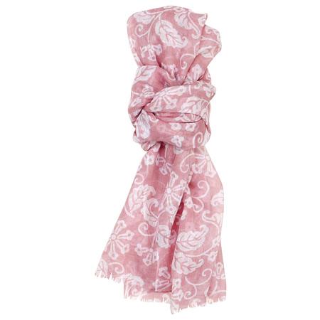 綿ストール 花更紗 ピンク