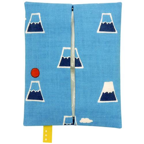ティッシュケース 富士山と雲