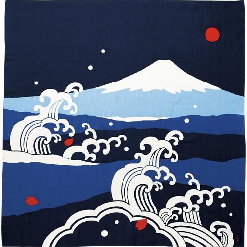 大布 富士山と大波