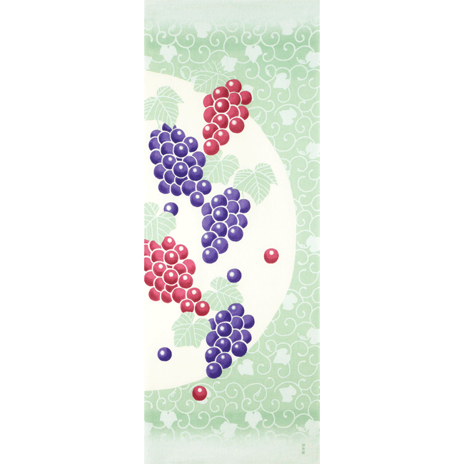 絵てぬぐい 粒つぶ葡萄