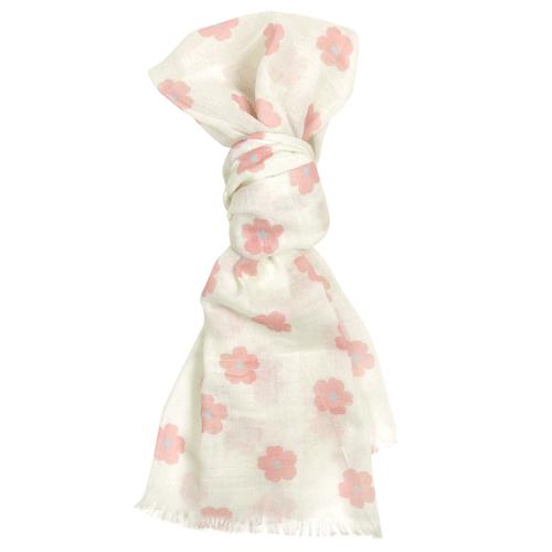 綿ストール 可愛い桜紋 オフ