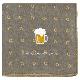 リバーシブルガーゼハンカチ リングドットとビール