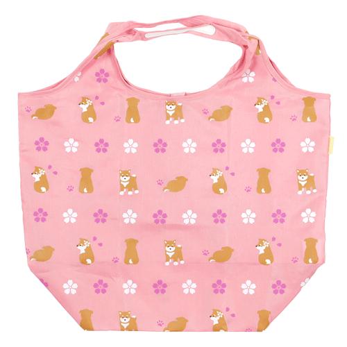 エコトート大 豆柴と桜 ピンク