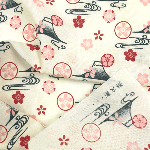 てぬぐい 富士山桜紋