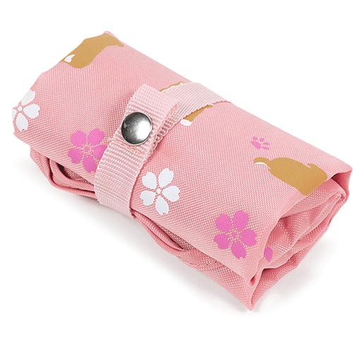 エコトート小 豆柴と桜 ピンク