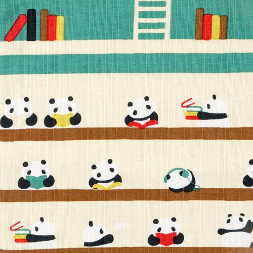 おさんぽトート パンダの図書館 エメブルー